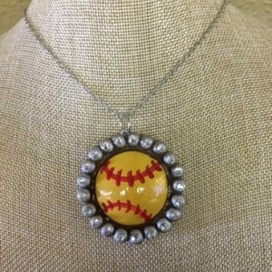 NEW Softball Clay Necklace